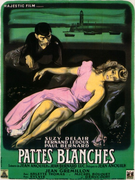 Poster art for Pattes blanches (1949).
