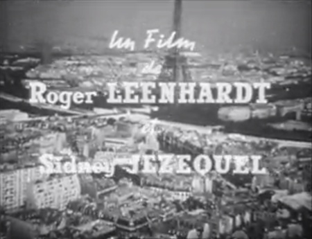 Fig. 2 and 3. The opening credits of Paris et le desert francais (1957).