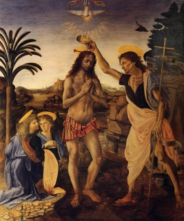 Fig. 3. Baptism of Christ (Verrocchio, 1472-1475).